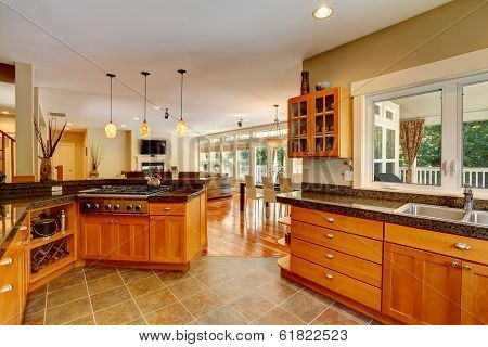 Modern Kitchen Room Interior