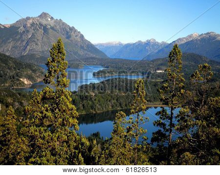 Andes Mountains And Lakes