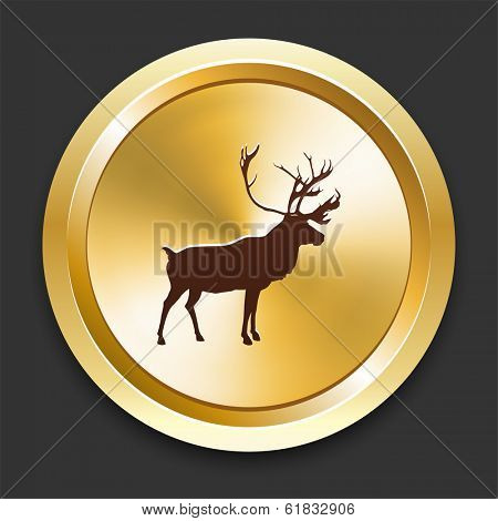 Deer Icons on Gold Button Collection