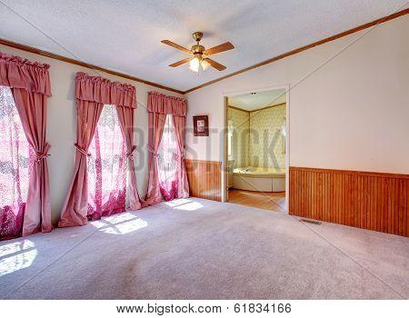Empty Bedroom With Nice Window Treatment