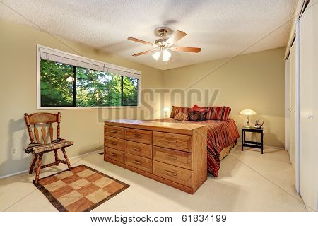 Bedroom Furniture Set In Bright Room With Window