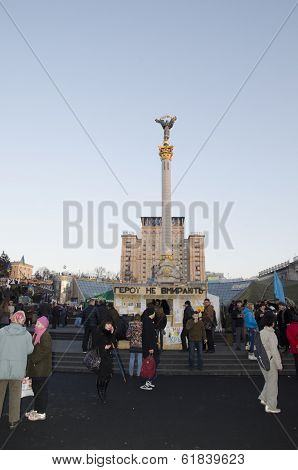 Maidan Nezalezhnosti In Kiev, Revolution Time