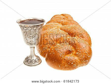 Challah and Kiddush cup