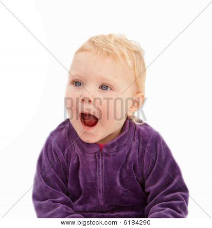 Surprise - Cute Little Girl Looking Shocked