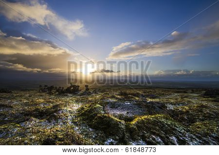 Sunrise at Caradon Hill, Cornwall, UK