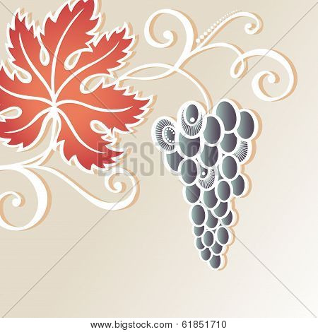 Colored Floral Background with Grape