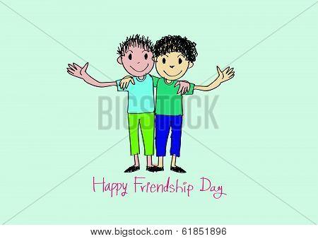 Happy Friendship day background Best Friends Forever.