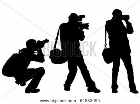 Journalist man with a photo camera