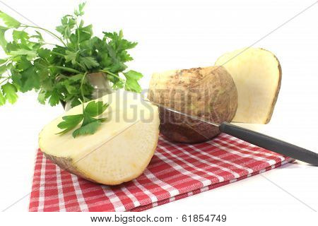 Turnip On A Napkin