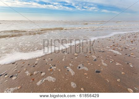 Sand Beach On North Sea