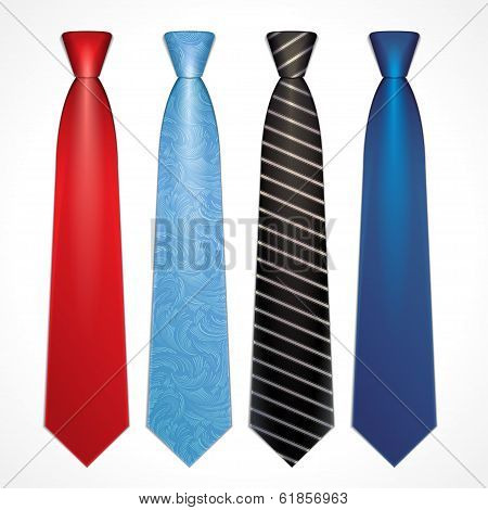 Vector set of colorful neckties