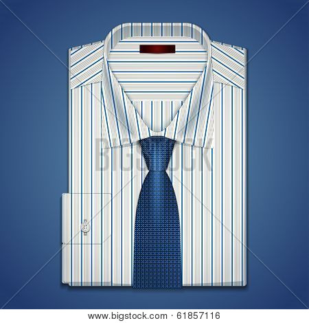 Vector classic shirt and tie