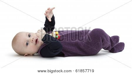 Playful Toddler Isolated On White Background