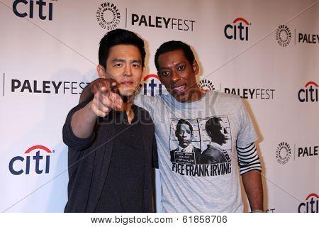 LOS ANGELES - MAR 19:  John Cho, Orlando Jones at the PaleyFEST -