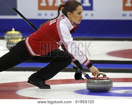 Curling Women Russia Anna Sidorova