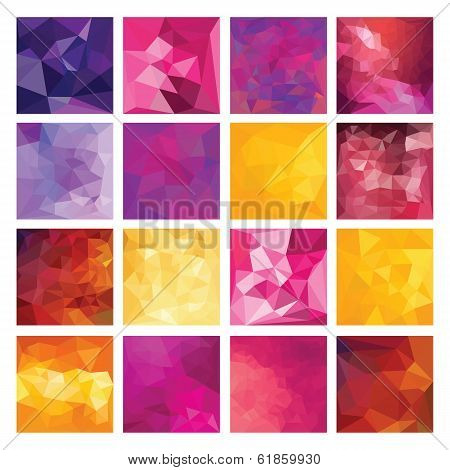 Polygonal  vector background.