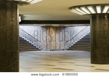 Empty Underpass With Steps