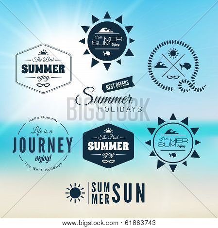 Vintage summer holidays typography design