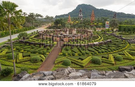 Landscape tropical park of Nong Nuch in Pattaya, Thailand
