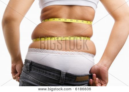 Female Can Not Wearing Her Jeans Anymore