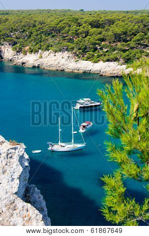 Cala Galdana Beach, Island Of Menorca, Balearic Islands, Spain