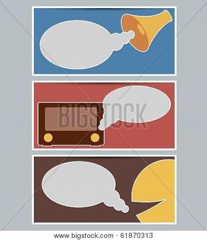 Set Of Web Slider Banners Background