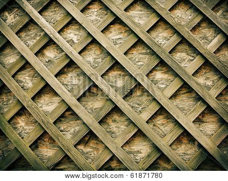 Wooden Planks For Background On A Diagonal