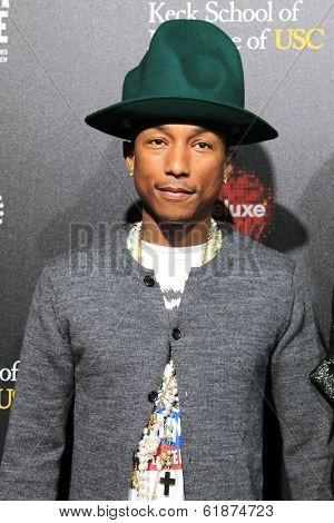 LOS ANGELES - MAR 20: Pharrell Williams at the 2nd Annual Rebels With A Cause Gala at Paramount Studios on  March 20, 2014 in Los Angeles, California