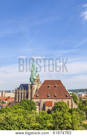Dom Hill Of Erfurt Germany