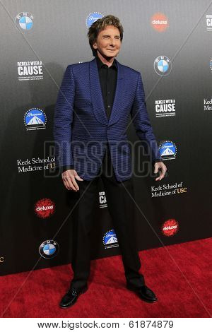 LOS ANGELES - MAR 20: Barry Manilow at the 2nd Annual Rebels With A Cause Gala at Paramount Studios on  March 20, 2014 in Los Angeles, California