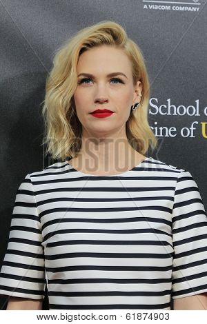 LOS ANGELES - MAR 20: January Jones at the 2nd Annual Rebels With A Cause Gala at Paramount Studios on  March 20, 2014 in Los Angeles, California