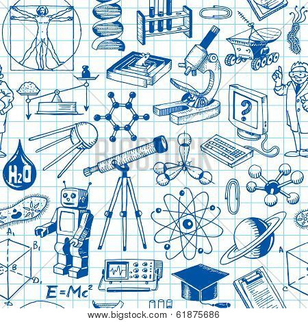 Science And Education Seamless Pattern