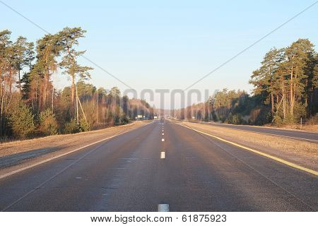 Landscape with the image of country road