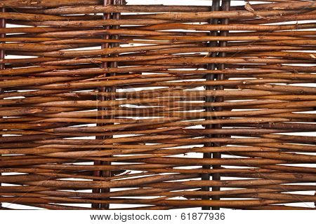 Background of interwoven wooden bars