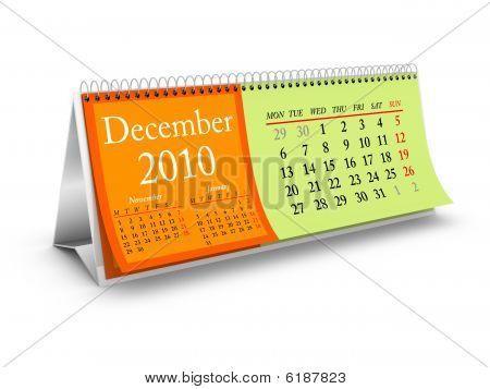 December 2010 Desktop Calendar