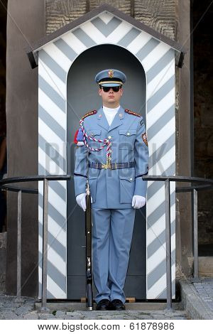 A Guard At Prague Castle