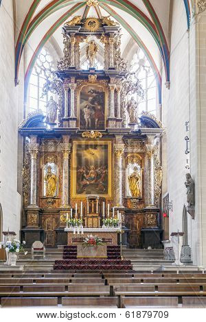 Old Altar From 1697 At Erfurt Cathedral