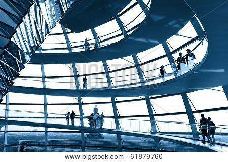 Reichstag Dome At The German Parliament