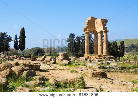 Ancient Greek Temple Of The Dioscuri