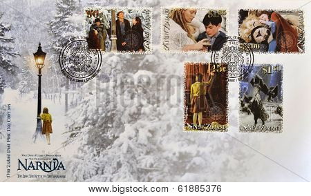 NEW ZEALAND - CIRCA 2005: Stamps printed in New Zealand shows The Chronicles of Narnia