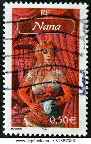 FRANCE - CIRCA 2003: A stamp printed in France shows drawing of
