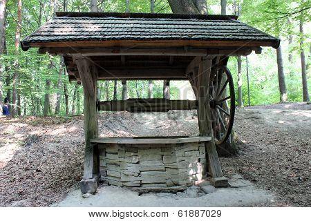 artesian well in Transcarpathian Ukrainian village