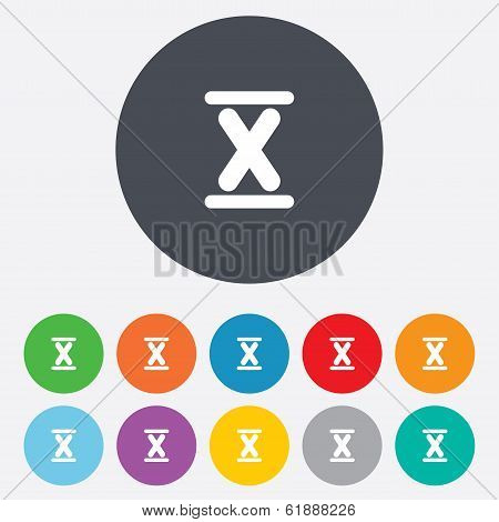 Roman numeral ten icon. Roman number ten sign.