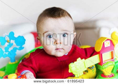 Wide-eyed Boy In Jumper