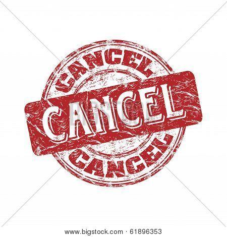 Cancel grunge rubber stamp