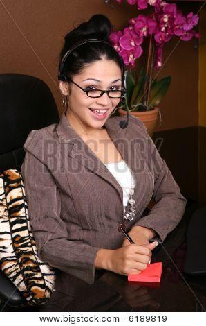 Perky Receptionist