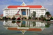 picture of minister  - Prime Minister Office building Vientiane Laos Southeast Asia - JPG