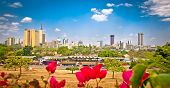 stock photo of poverty  - Panoramic view on Nairobi  - JPG
