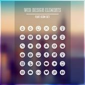 picture of glyphs  - Flat design icon set - JPG