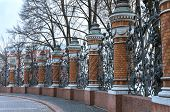 The Railing Of Michael (mikhaylovsky) Garden. St. Petersburg, Russia